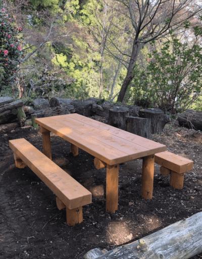 木製ベンチ1